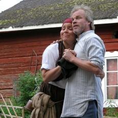 tukkijoellla Maria ja Veli-Matti Linna
